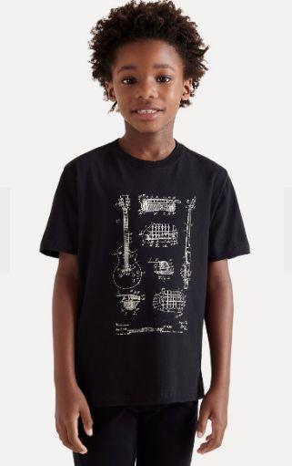 Camiseta reserva mini SILK RASCUNHO GUITARRA