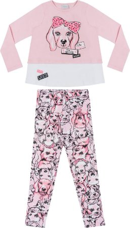 Conjunto Rosa DOG - Manga Curta