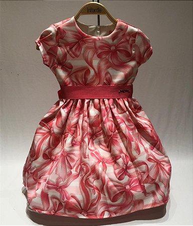 Vestido Rosa Lacinhos