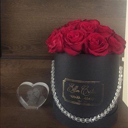 Caixa com flores - Redonda MM