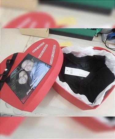 Caixa personalizada de coração