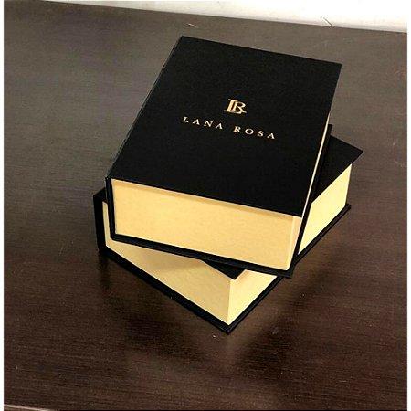 Caixa livro com logo