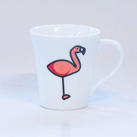 Caneca Branca Túlipa - Flamingo