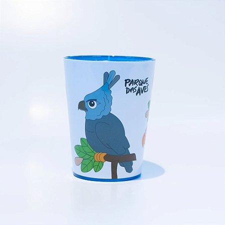 Copo azul plástico - harpia