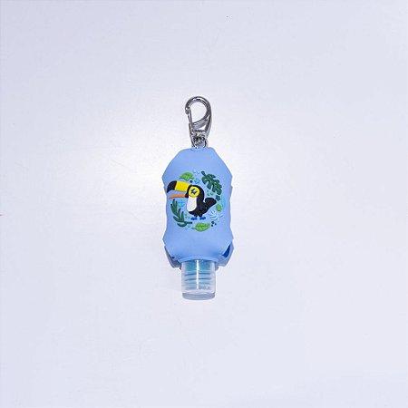 Chaveiro álcool gel - tucano