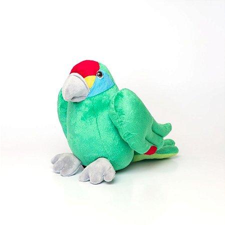 Pelúcia papagaio-chauá