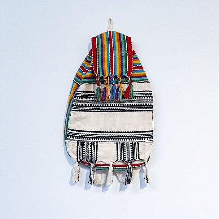 Bolsa indígena - colorida/ preto e branco