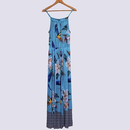 Vestido Longo Feminino - Araras