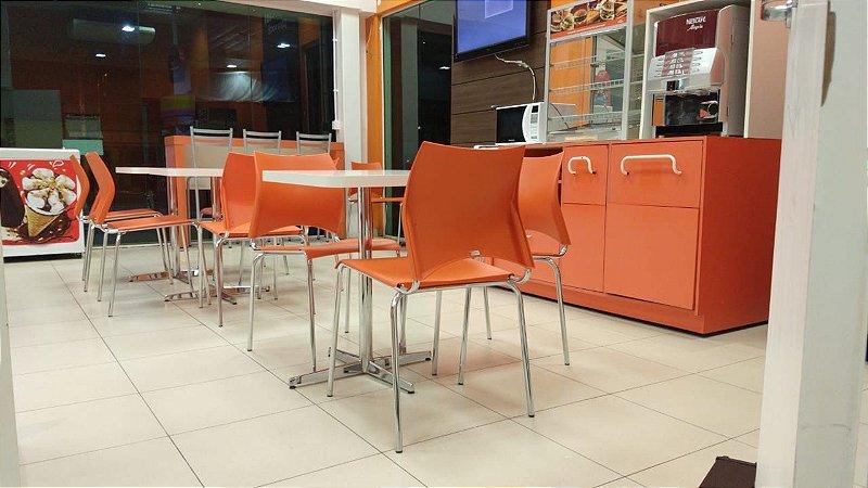 Conjunto com 1 Mesa e 3 Cadeiras - Mesas e Cadeiras para Restaurante REF 7000