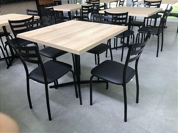 Conjunto com 1 Mesa e 4 Cadeiras - Mesas e Cadeiras para Restaurante REF 6100