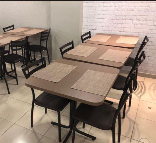 Conjunto com 1 Mesa e 2 Cadeiras - Mesas e Cadeiras para Restaurante REF 7090