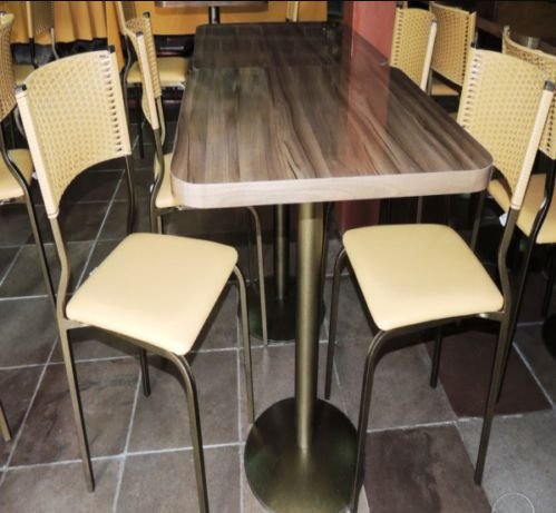 Conjunto com 1 Mesa e 2 Cadeiras - Mesas e Cadeiras para Restaurante REF 7130