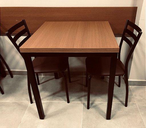 Conjunto com 1 Mesa e 2 Cadeiras - Mesas e Cadeiras para Restaurante REF 7140