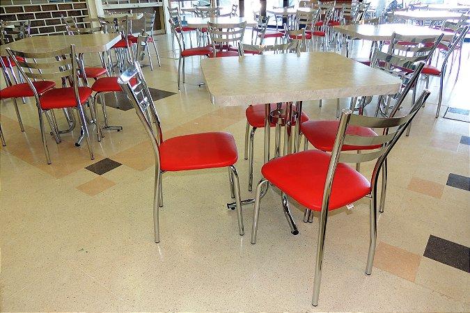 Conjunto com 1 Mesa e 4 Cadeiras - Mesas e Cadeiras para Restaurante REF 6161