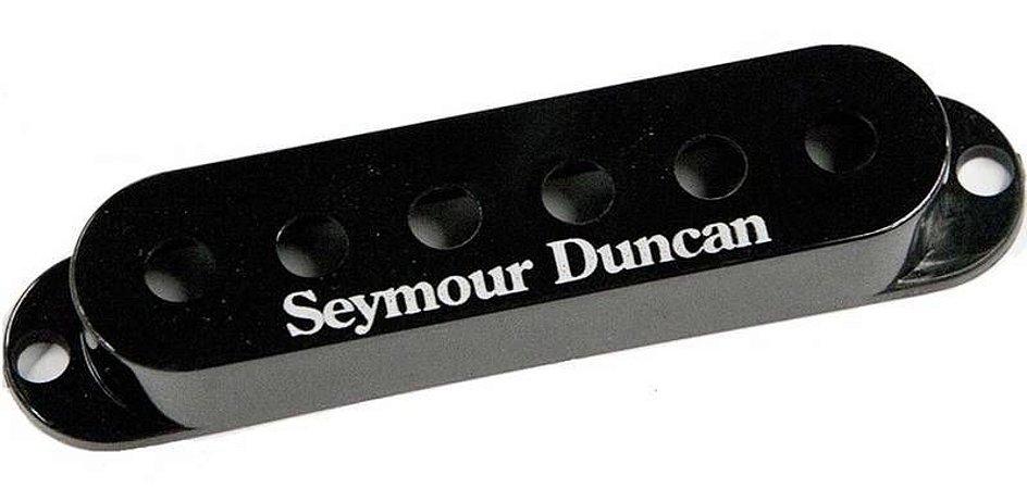 Capas Seymour Duncan S-Cover Individual Para Captador Single Strato Com Logo, Preto