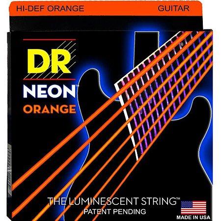Encordoamento Hi-Definition NEON Orange, Guitarra 10-46