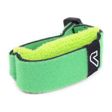 Abafador De Cordas Fretwrap Gruv Gear Individual Médio Verde, Com Velcro Ajustável
