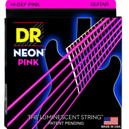 Encordoamento Hi-Definition NEON Pink, Guitarra 10-46