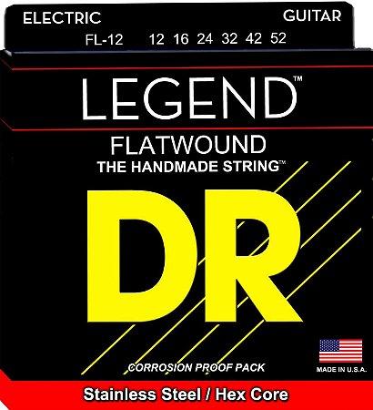 Encordoamento Legend Polished Flatwound, Guitarra Jazz 12-42
