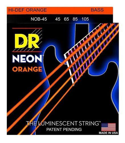 Encordoamento Hi-Definition NEON Orange Baixo 4 Cordas 45-105