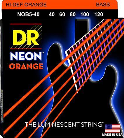 Encordoamento Hi-Definition NEON Orange Baixo 5 Cordas 40-120