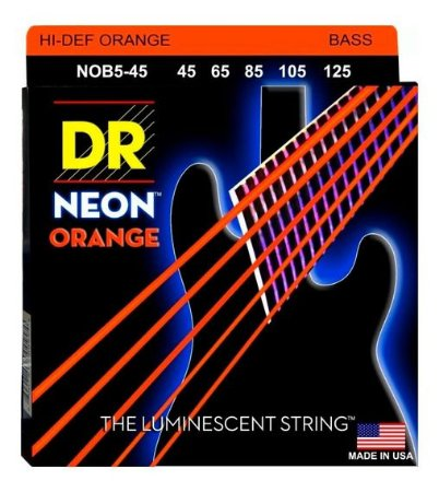 Encordoamento Hi-Definition NEON Orange Baixo 5 Cordas 45-125