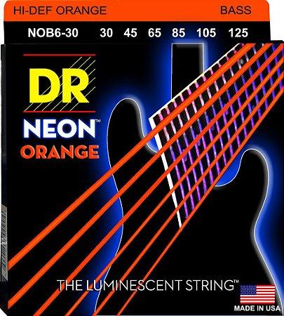 Encordoamento Hi-Definition NEON Orange Baixo 6 Cordas 30-125