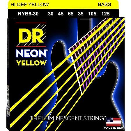 Encordoamento Hi-Definition NEON Yellow, Baixo 6 Cordas 30-125