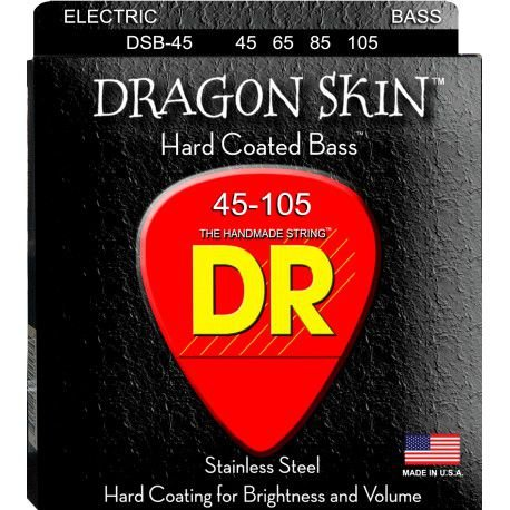 Encordoamento Dragon Skin, Baixo 4 Cordas 45-105