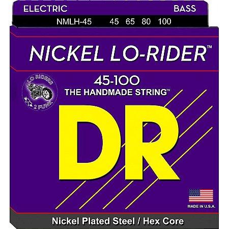 Encordoamento Nickel Lo-Rider Baixo 4 Cordas 45-100