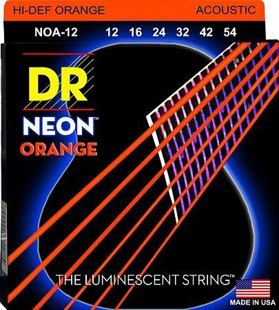 Encordoamento Hi-Definition NEON Orange, Violão, 12-54