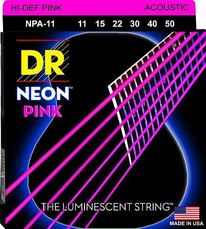 Encordoamento Hi-Definition NEON Pink, Violão, 11-50