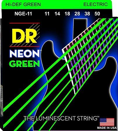 Encordoamento Hi-Definition NEON Green, Guitarra 11-50