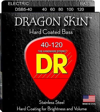 Encordoamento Dragon Skin, Baixo 5 Cordas 40-120