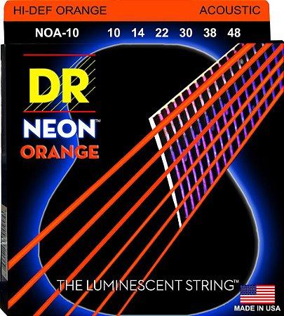 Encordoamento Hi-Definition NEON Orange, Violão, 10-46