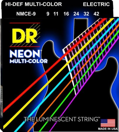 Encordoamento Hi-Definition NEON Multi-Color, Guitarra 9-42