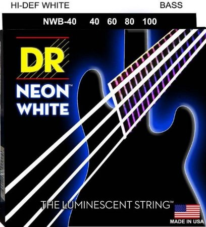 Encordoamento Hi-Definition NEON White, Baixo 4 Cordas 40-100