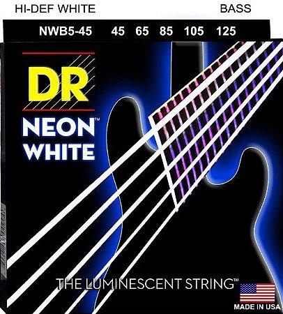 Encordoamento Hi-Definition NEON White, Baixo 5 Cordas 45-125