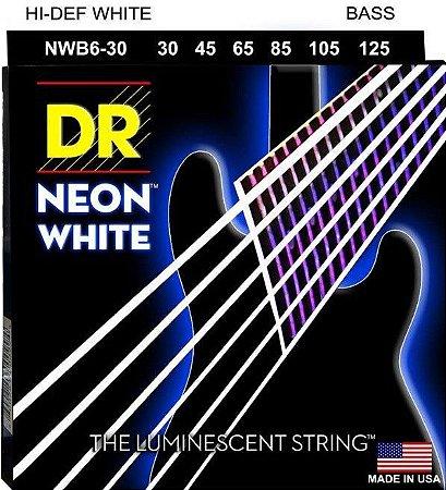 Encordoamento Hi-Definition NEON White, Baixo 6 Cordas 30-125