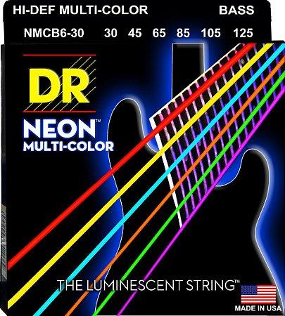 Encordoamento Hi-Definition NEON Multi-Color, Baixo 6 Cordas 30-125