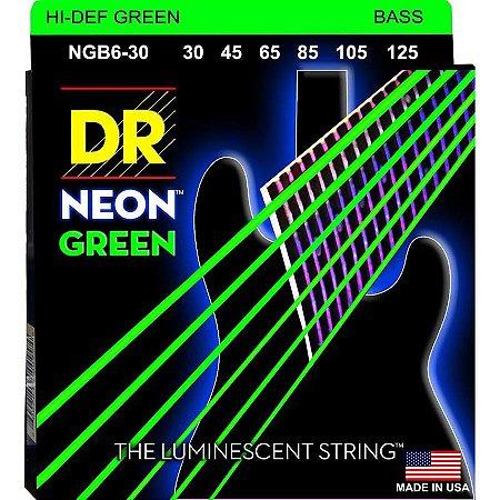 Encordoamento Hi-Definition NEON Green, Baixo 6 Cordas 30-125