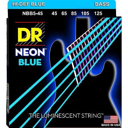 Encordoamento Hi-Definition NEON Blue, Baixo 5 Cordas 45-125
