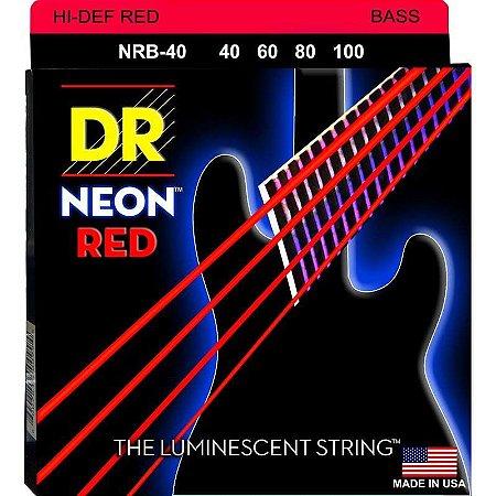Encordoamento Hi-Definition NEON Red, Baixo 4 Cordas 40-100