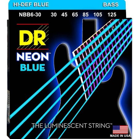 Encordoamento Hi-Definition NEON Blue, Baixo 6 Cordas 30-125