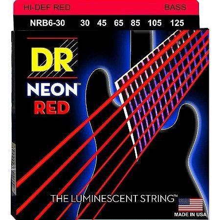 Encordoamento Hi-Definition NEON Red, Baixo 6 Cordas 30-125