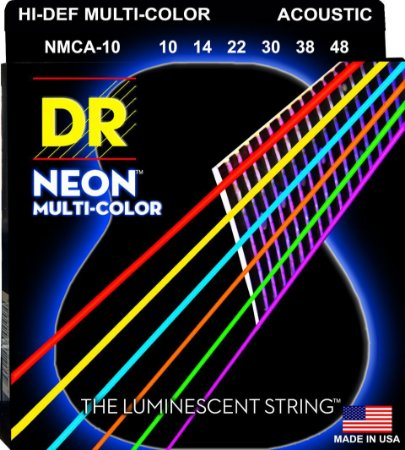 Encordoamento Hi-Definition NEON Multi-Color, Violão, 10-46
