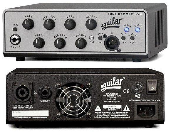 Cabeçote Aguilar Tone Hammer TH-350 Classe D, 350 Watts, XLR