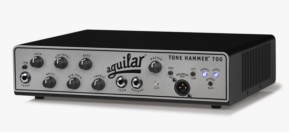 Cabeçote Aguilar Tone Hammer TH-700 Classe D, 700 Watts, XLR