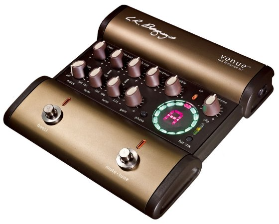 Pedal LR Baggs Venue Direct Box Acústico, Total Isolamento, Afinador, Booster, EQ 5 Bandas, Loop Efeito