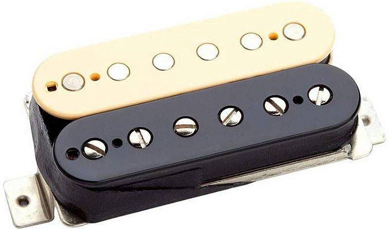 Captador Guitarra TB-6 Duncan Distortion Trembucker Cerâmico 4 Cond, Ponte Rev Zebra